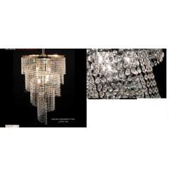 Lampadario Aspirale con cristalli