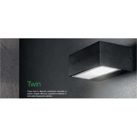 Lampada parete TWIN